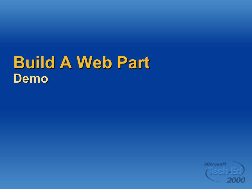 Build A Web Part Demo