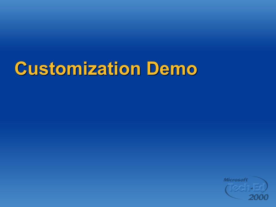Customization Demo