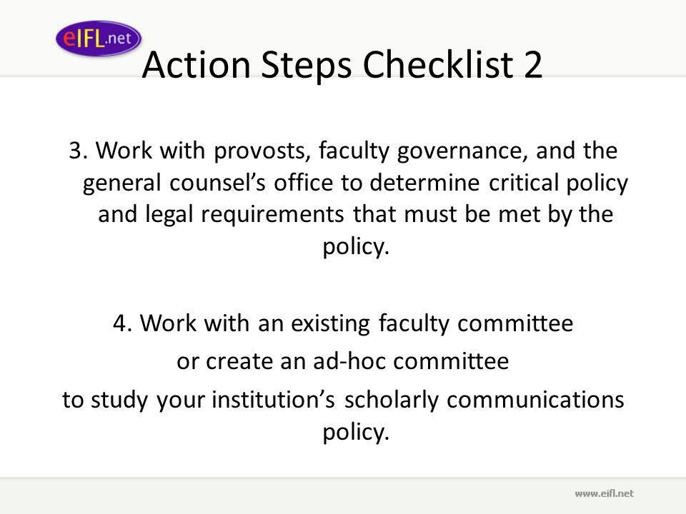 Action Steps Checklist 2 3.