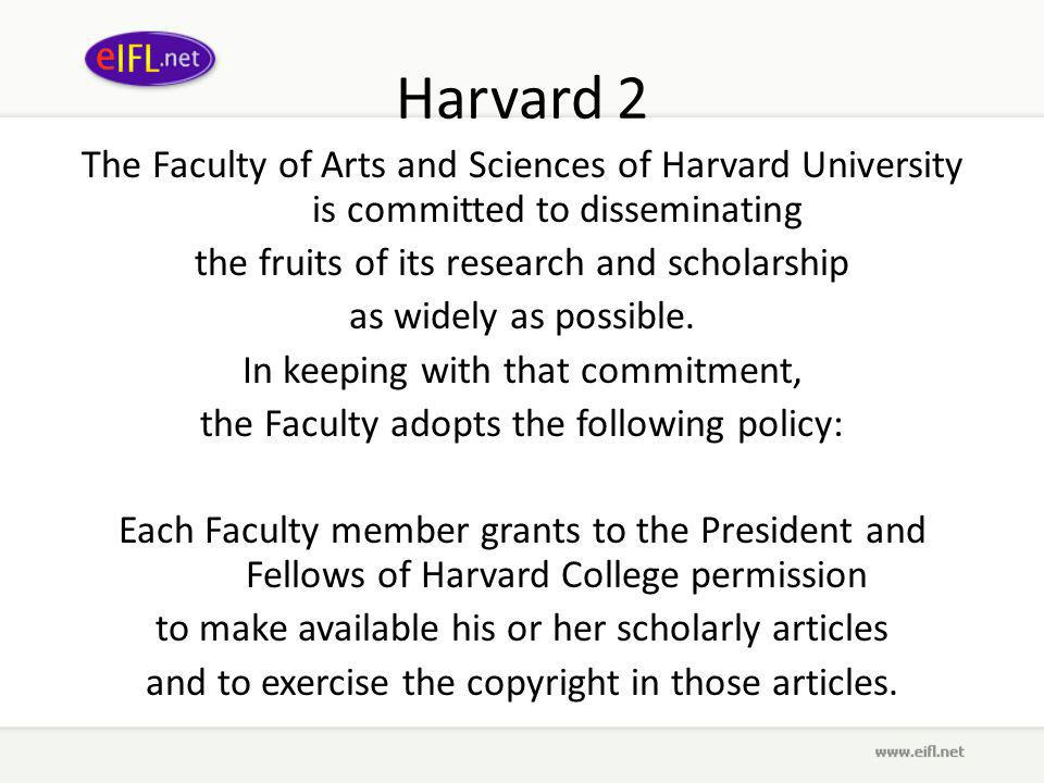Harvard 2 The Faculty of Arts and Sciences of Harvard University is committed to disseminating the fruits of its research and scholarship as widely as possible.