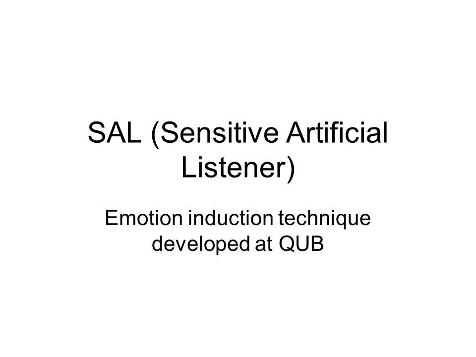 SAL (Sensitive Artificial Listener) Emotion induction technique developed at QUB