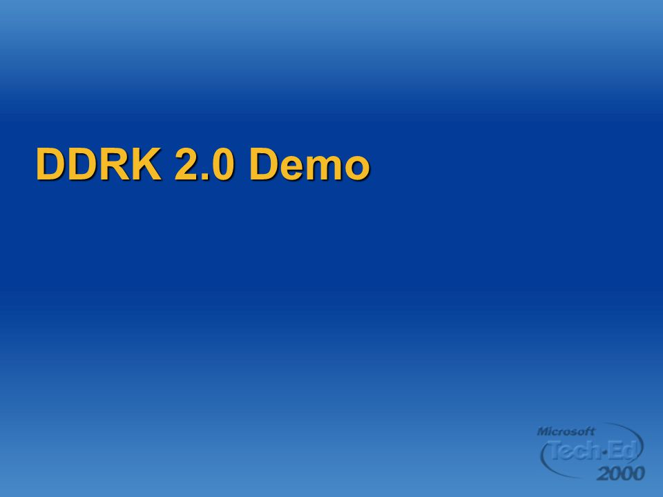DDRK 2.0 Demo