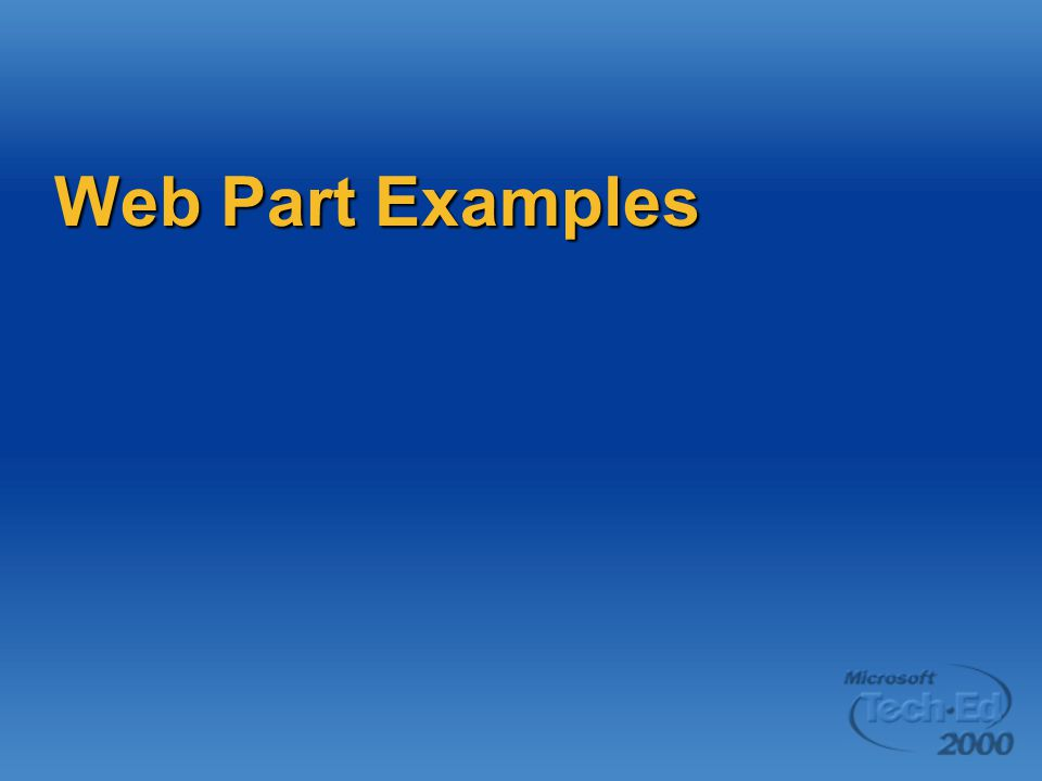 Web Part Examples