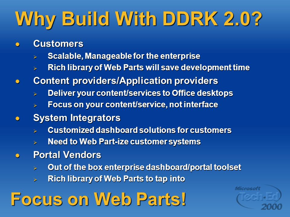 Why Build With DDRK 2.0.