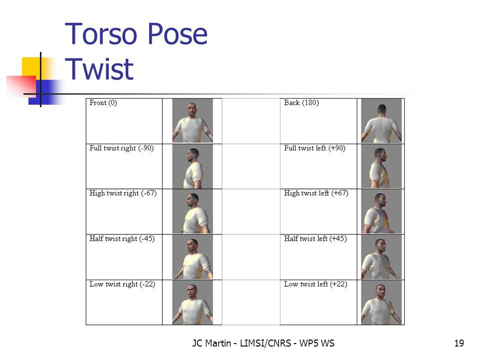 JC Martin - LIMSI/CNRS - WP5 WS19 Torso Pose Twist