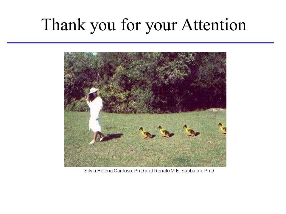 Thank you for your Attention Silvia Helena Cardoso, PhD and Renato M.E. Sabbatini, PhD