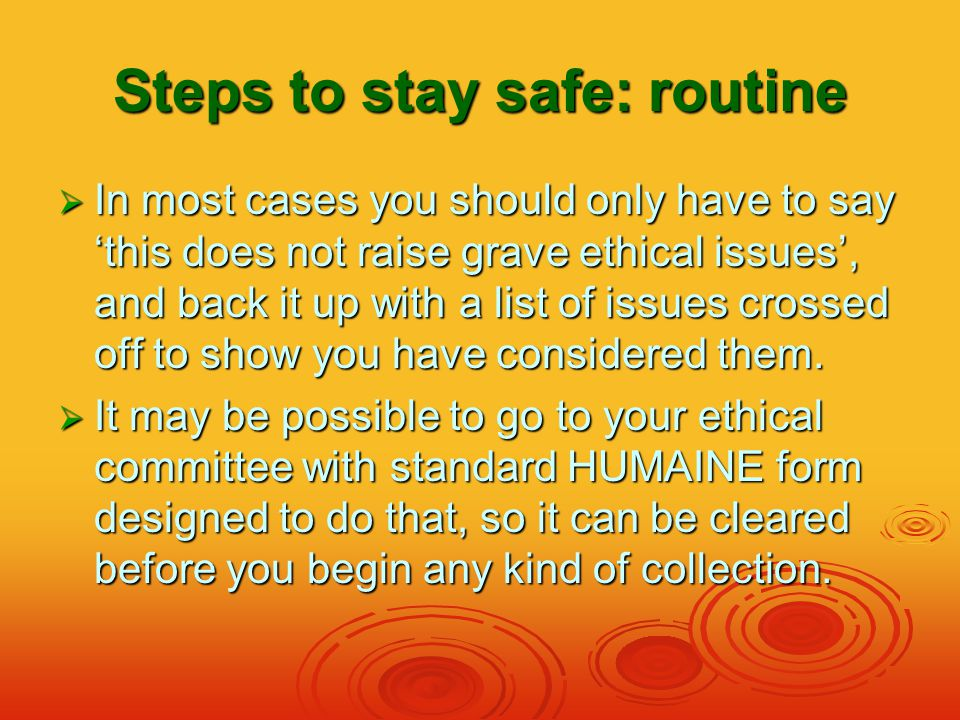Steps to stay safe: Draft form to guide ethical planning  Brief code  Description of study  What negative effects might result from in your research.