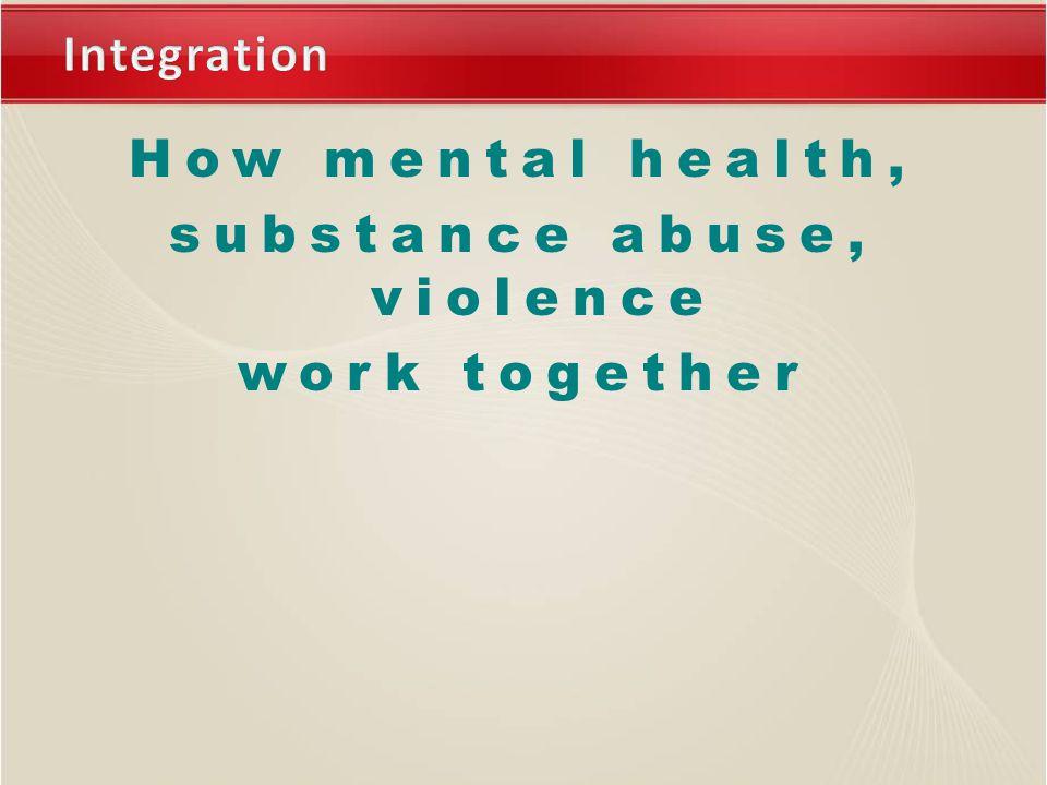 How mental health, substance abuse, violence work together