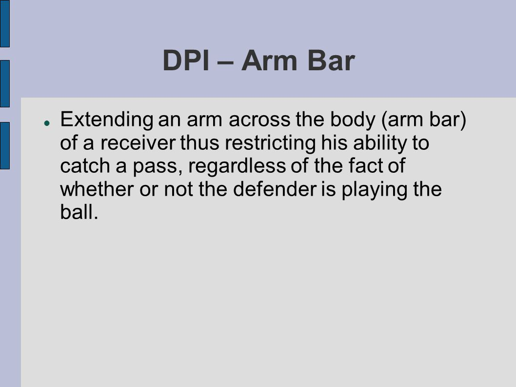 Not OPI – Defensive Player Blocking It is not OPI on a «pick play» if the defensive player is blocking the offensive player when the pick occurs.