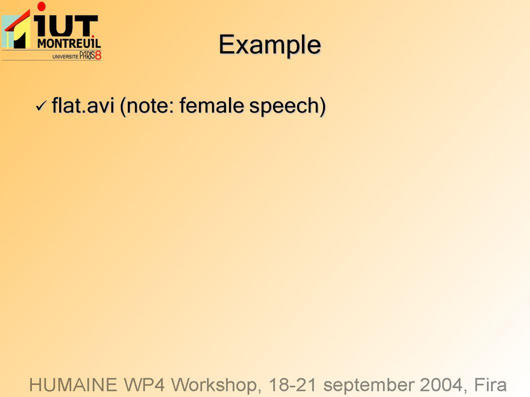 Example flat.avi (note: female speech) flat.avi (note: female speech)