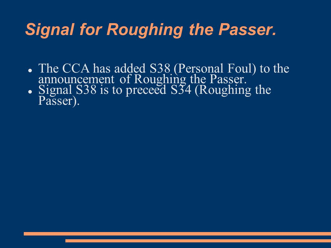 Signal for Roughing the Passer.