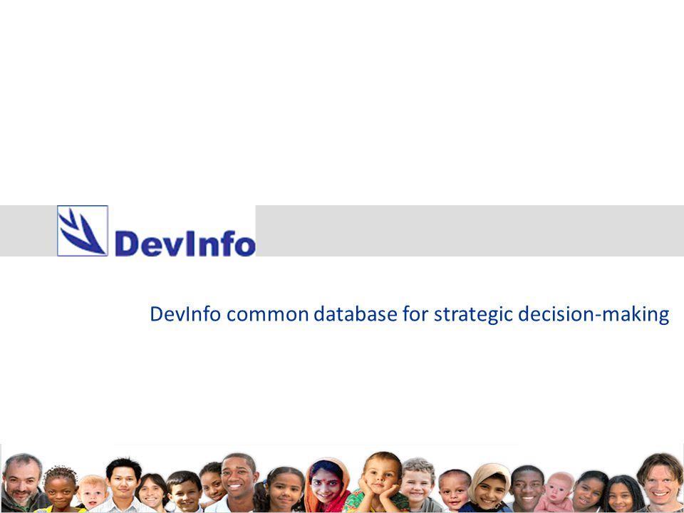 DevInfo common database for strategic decision-making
