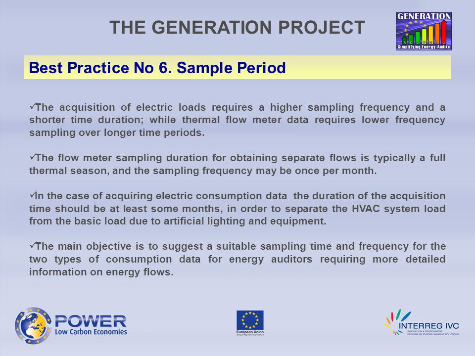THE GENERATION PROJECT Best Practice No 6.