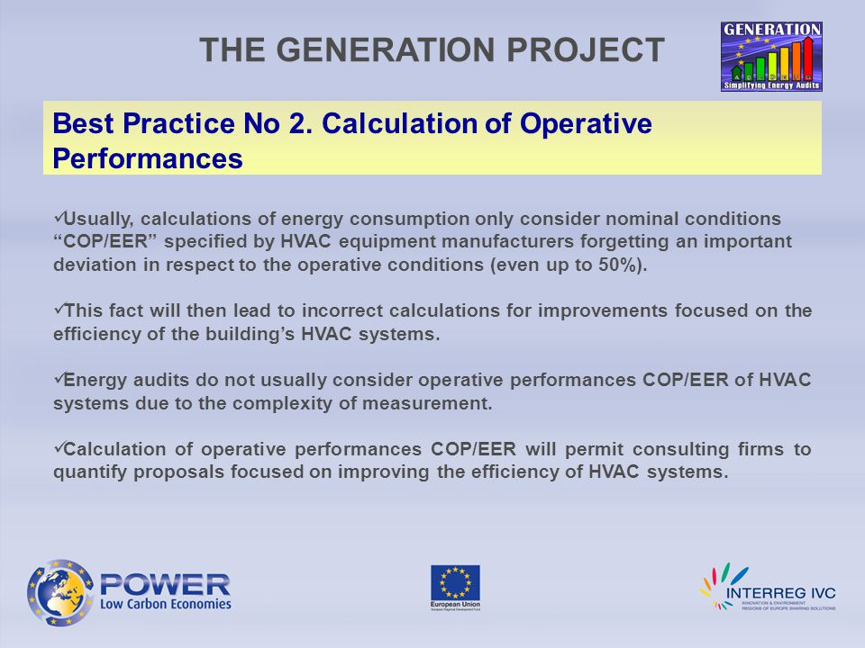 THE GENERATION PROJECT Best Practice No 2.