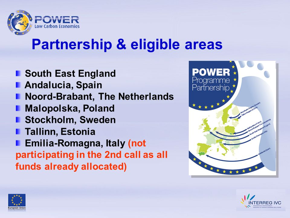 Policy context Kyoto Protocol EU Climate & Energy Package Sustainable Development Strategy (Gothenberg ) Lisbon Agenda