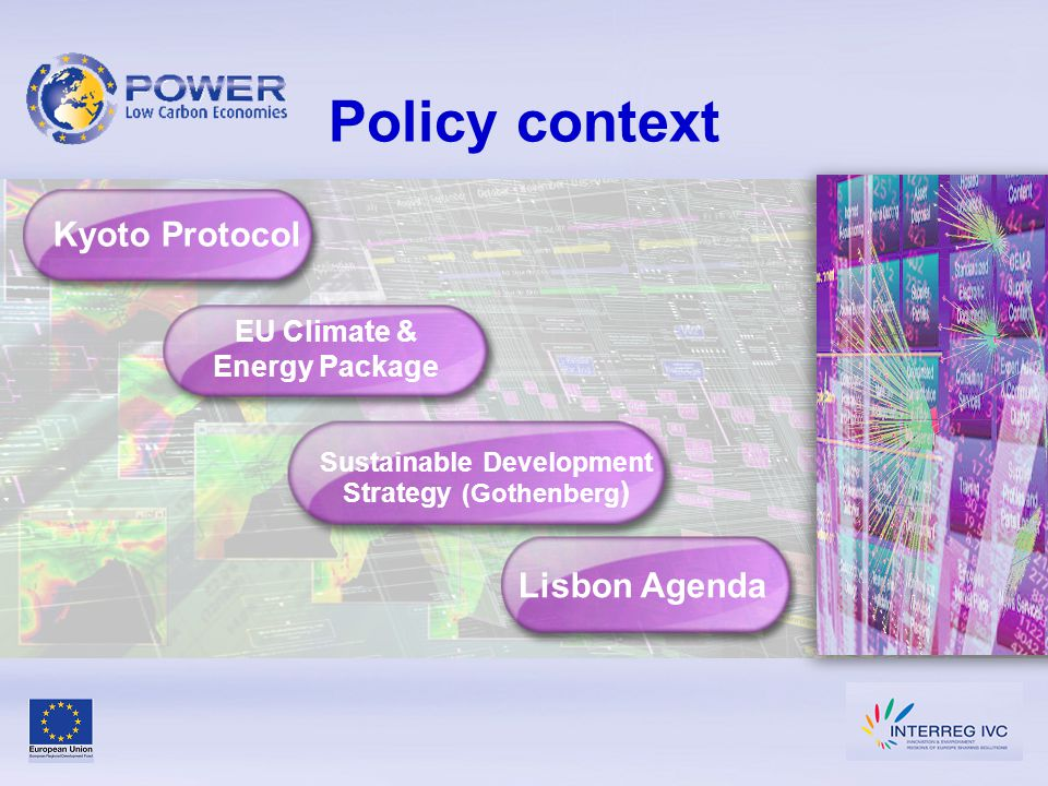 Structure of POWER Project Sub-Themes 1.Energy Efficiency 2.