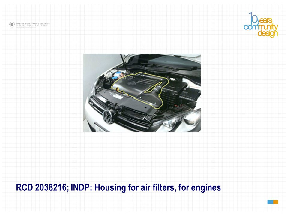 RCD 2038216; INDP: Housing for air filters, for engines