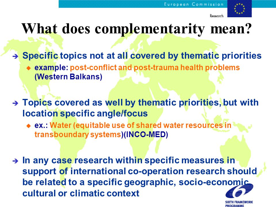 What does complementarity mean.