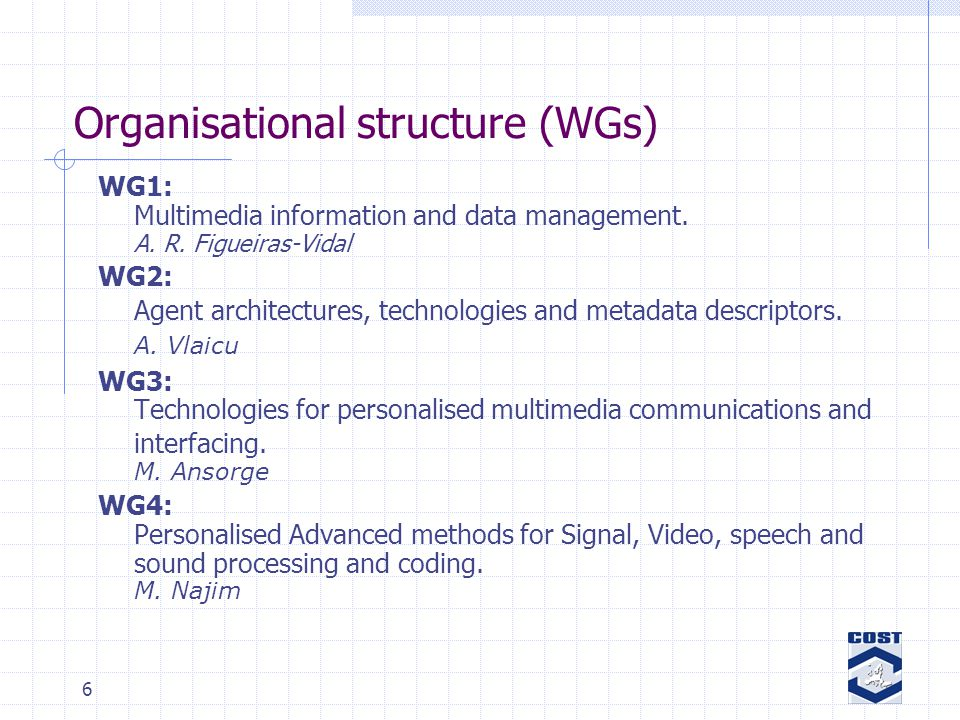 37 Conclusions The keyword: user-tailored information delivery in heterougeneous multimedia communication systems Promising 1 st year results Support for new communication technologies (p2p) will be integrated Interactivity among WGs and scientific cooperation between partners should be enhanced (financing) Financial Issues