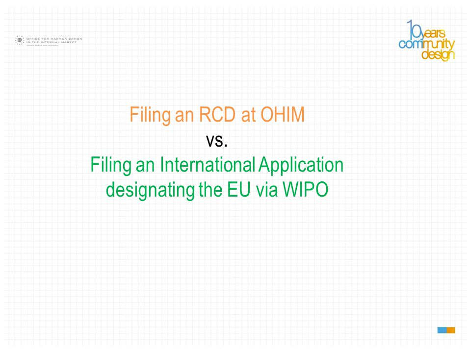 Who can file.OHIM: any natural or legal person.