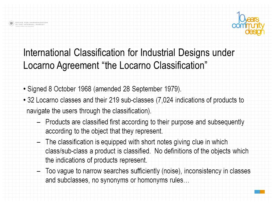 10 th edition adopted by Locarno CE in October 2012 - entry into force on 1 January 2014.