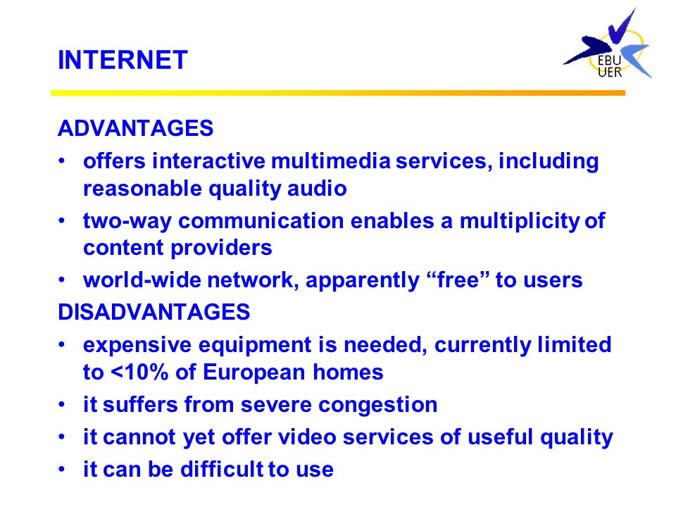 "SEPARATE WORLDS? Broadcasters ""Internet"" services Internet Broadcast delivery"
