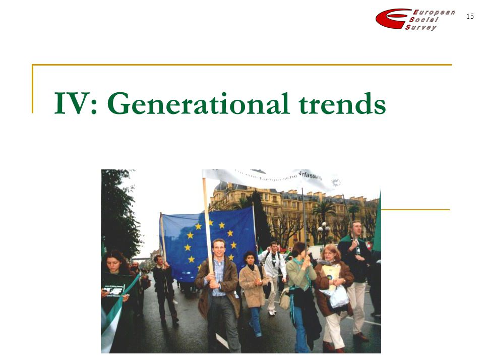 15 IV: Generational trends