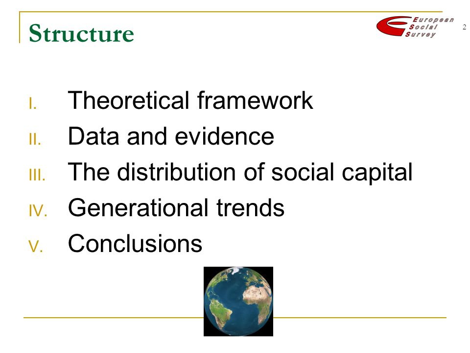 2 Structure I. Theoretical framework II. Data and evidence III.