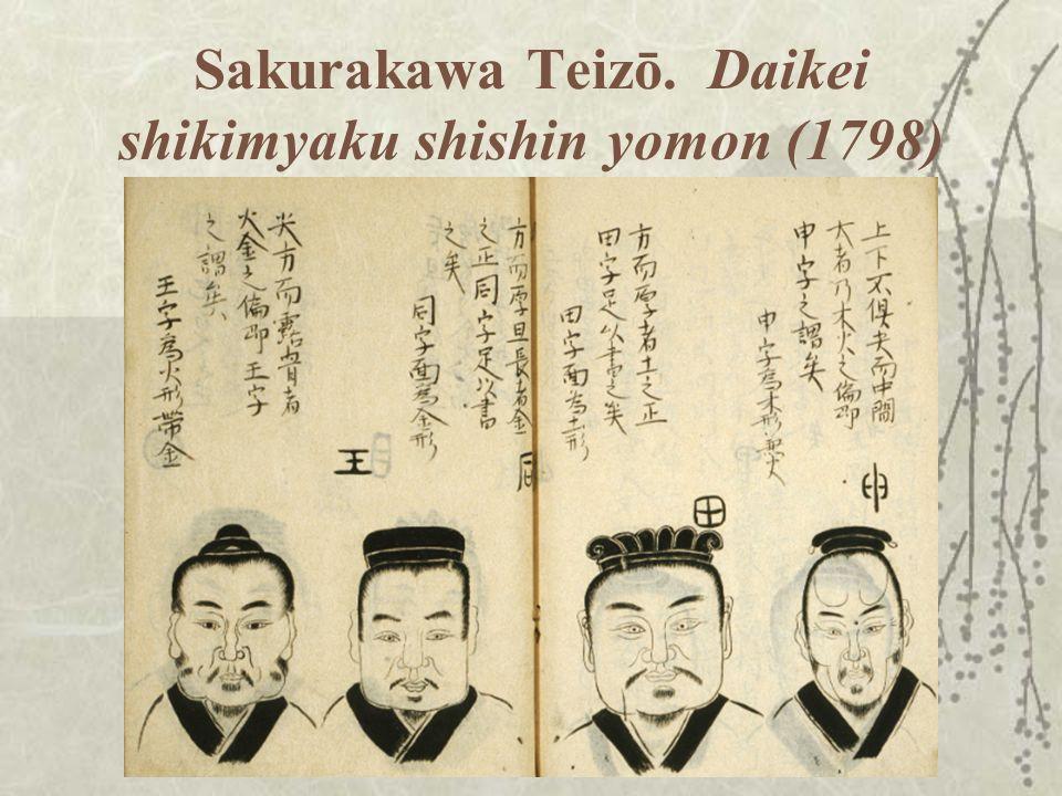 Sakurakawa Teizō. Daikei shikimyaku shishin yomon (1798)
