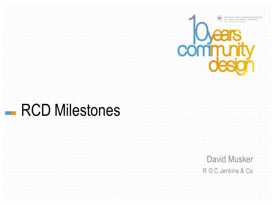 RCD Milestones David Musker R G C Jenkins & Co