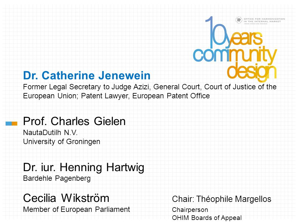Jurisprudence on Design Court of Justice of the EU (CJ and GC) an Overview Dr.