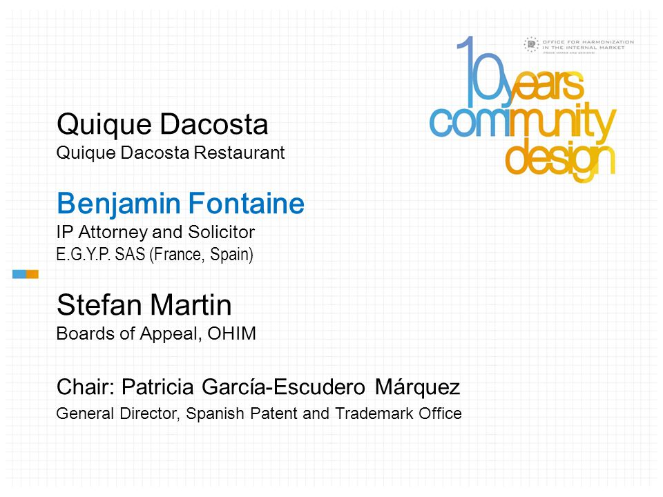 Quique Dacosta Quique Dacosta Restaurant Benjamin Fontaine IP Attorney and Solicitor E.G.Y.P.