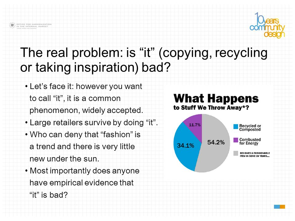 The real problem: is it (copying, recycling or taking inspiration) bad.