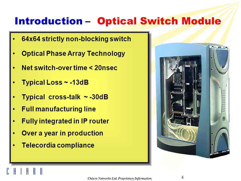 4 Chiaro Networks Ltd.
