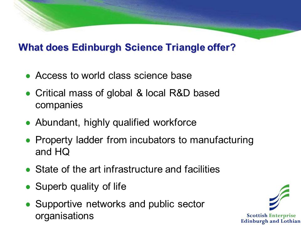 What does Edinburgh Science Triangle offer.