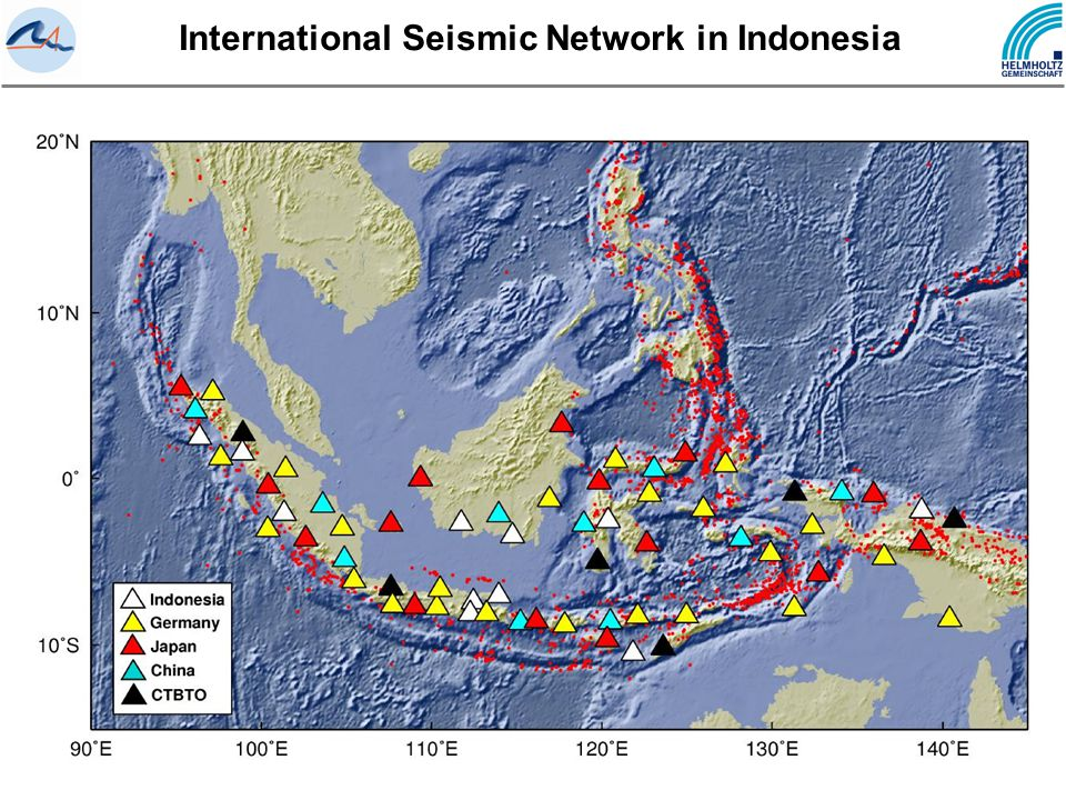 International Seismic Network in Indonesia