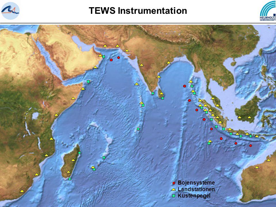 TEWS Instrumentation Bojensysteme Landstationen Küstenpegel