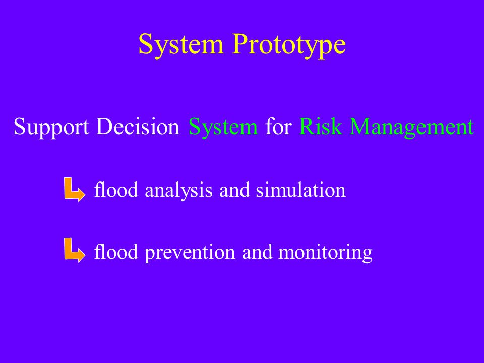 System Prototype Support Decision System for Risk Management flood analysis and simulation flood prevention and monitoring