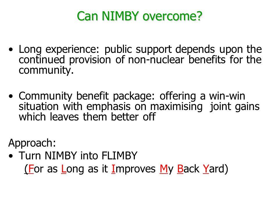 Can NIMBY overcome.