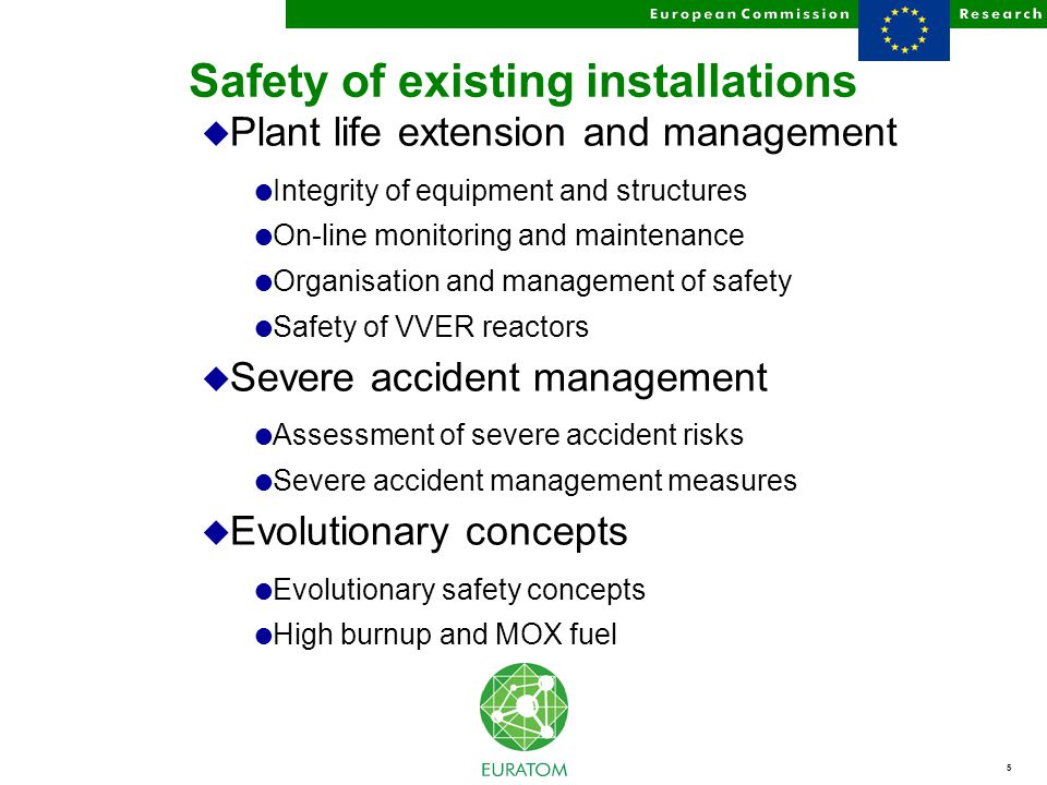 6 Safety of the Fuel Cycle Waste and Spent Fuel Management and Disposal Partitioning and Transmutation Decommissioning