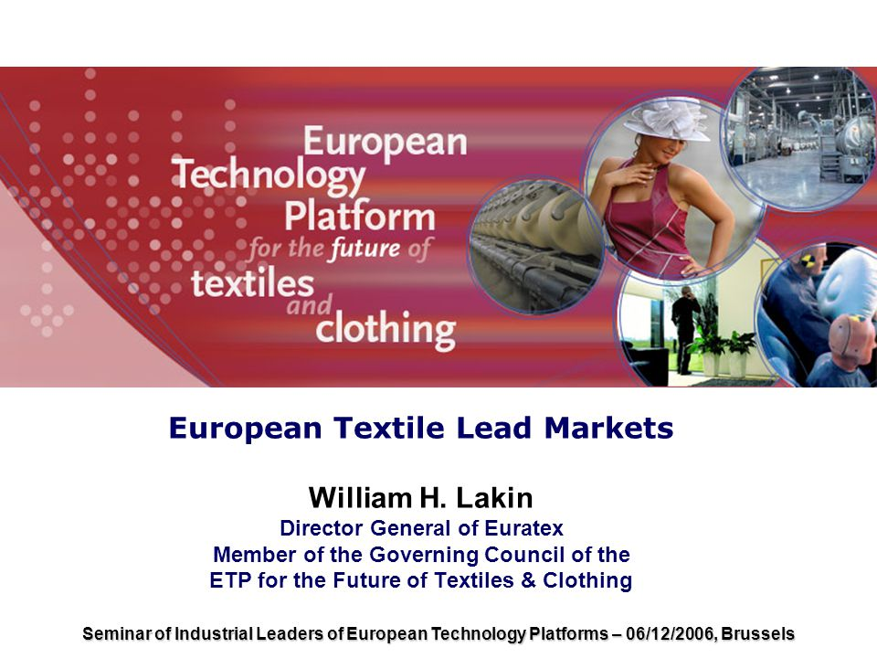 European Textile Lead Markets William H.