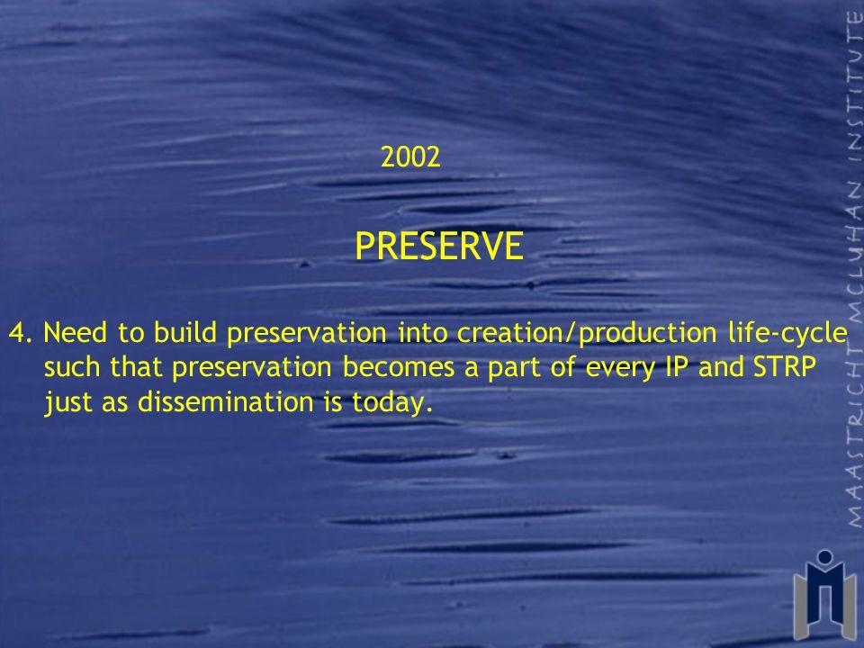 2002 PRESERVE 4.
