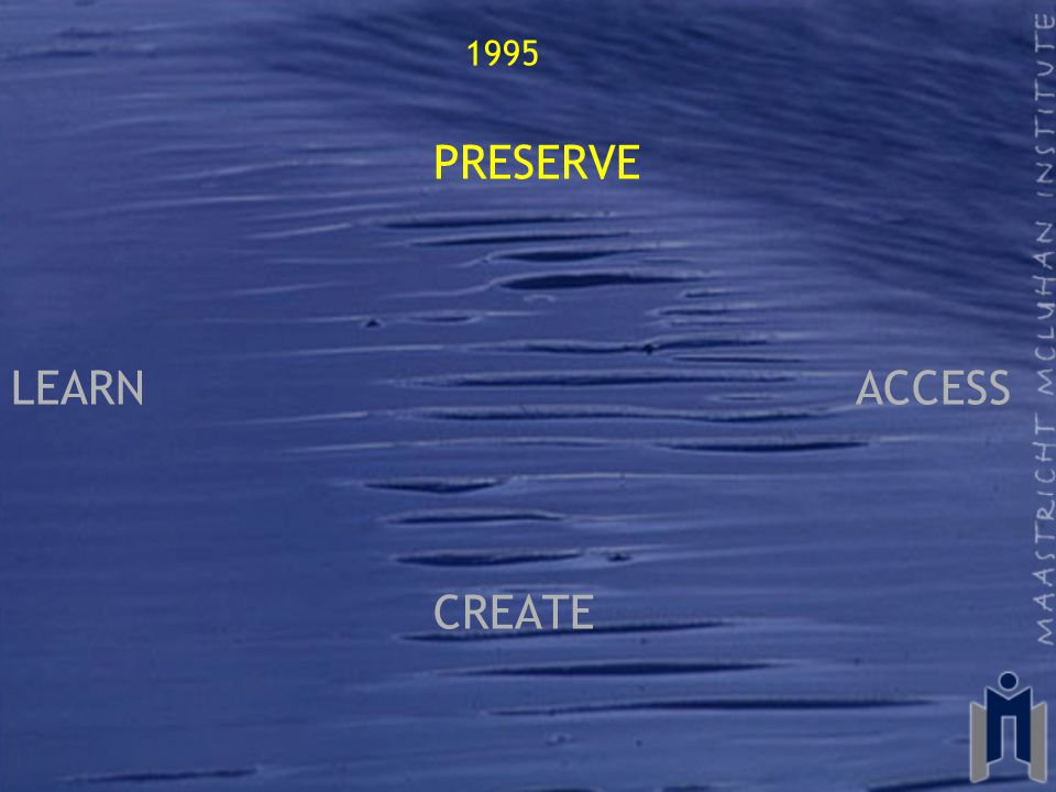 1995 PRESERVE LEARN ACCESS CREATE