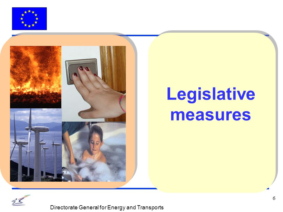 7 Directorate General for Energy and Transports Promotion of the RES electricity in the Internal Market Quantified national targets for consumption of electricity from renewable sources of energy National support schemes plus, if necessary, a harmonised support system Simplification of national administrative procedures for authorisation Guaranteed access to transmission and distribution of electricity from renewable energy sources Directive 2001/77/EC of 27.09.2001 OJ L 283 of 27.1.2001, page 33