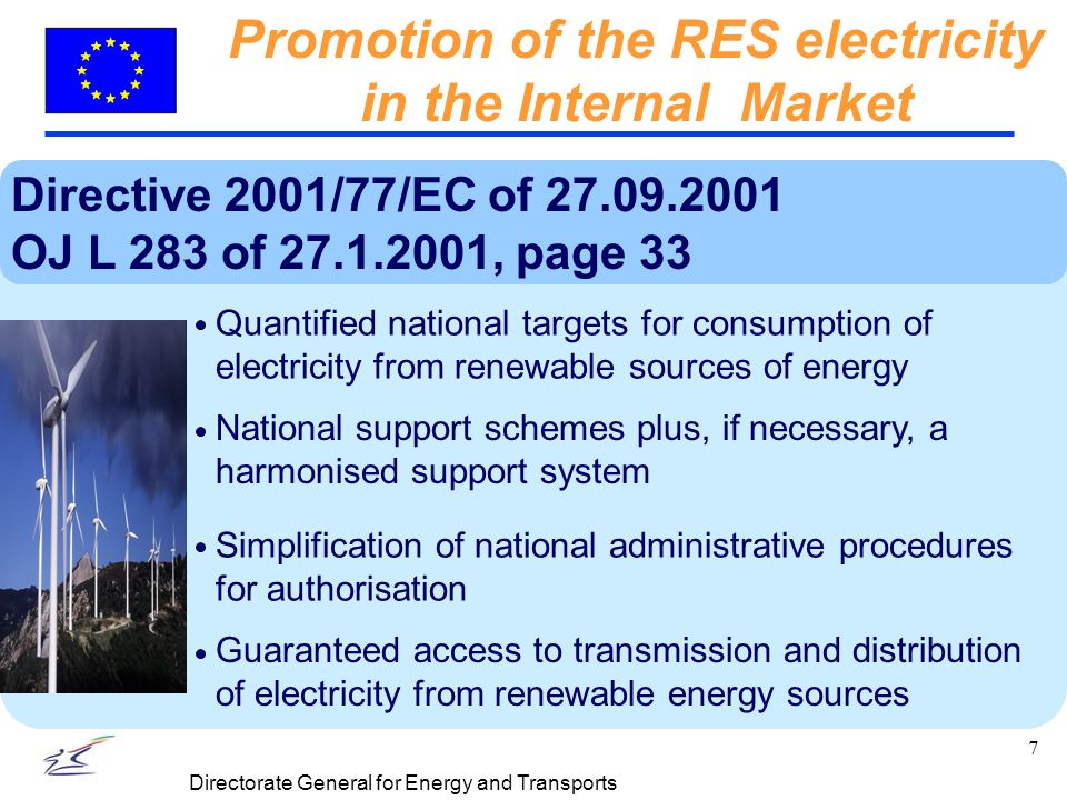 18 Directorate General for Energy and Transports The 3 Essential Components of a CONCERTO project RES Ecobuildings Integration