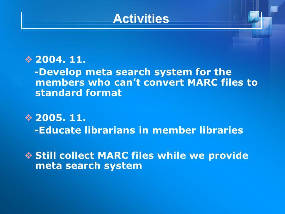 Activities  2004. 11.