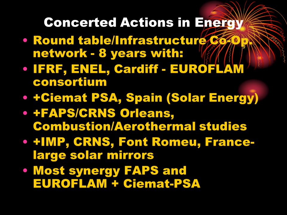 Concerted Actions in Energy Round table/Infrastructure Co-Op.