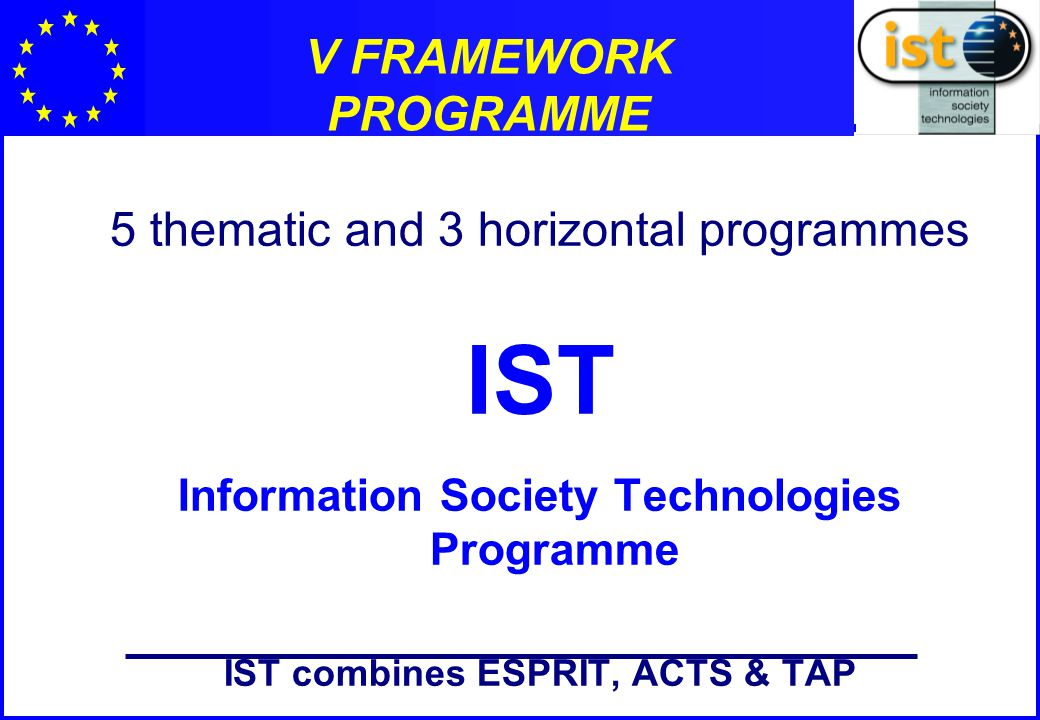 IST Programme - Key Action 1: Systems and services for the citizens.