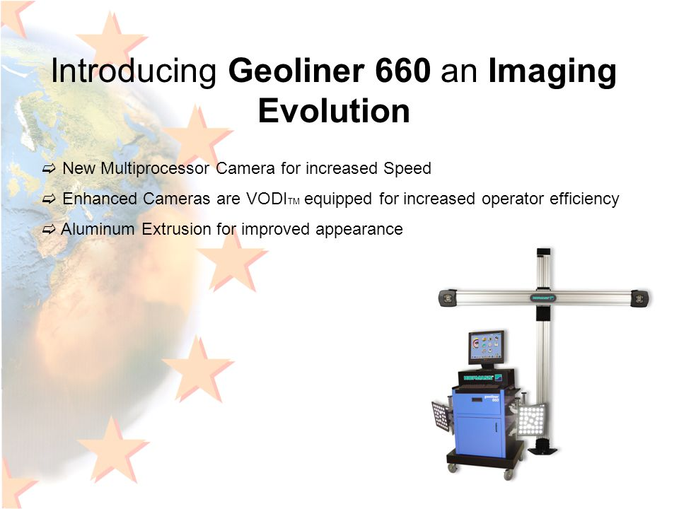 Introducing Geoliner 660 an Imaging Evolution  New Multiprocessor Camera for increased Speed  Enhanced Cameras are VODI TM equipped for increased op