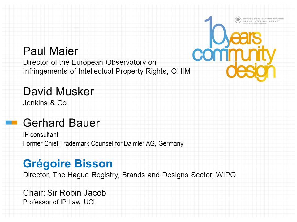 A Measure of the RCD's Success The Hague System 1993 – 2013 Grégoire Bisson Director, The Hague Registry WIPO